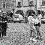 Mensen op straat: Selfiestick