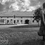 Gedenkbeeld in Theresienstadt Tsjechië